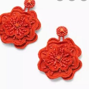 Stella & Dot red flower earrings